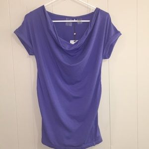 Calia Loose Neck Cinched Back Tee Size S